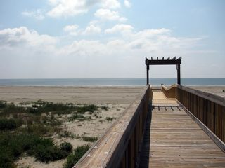 Galveston cottage photo - Boardwalk to the beaches