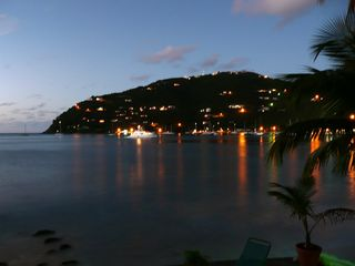 Tortola house photo - View of Cane Garden Bay at night