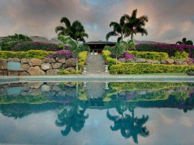 Nestled amongst the majestic Maui Mountains. Sunset and Ocean Views Private Pool