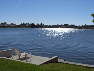 Cape Coral villa photo - Relax by the lake on the dock.