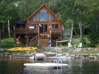 Lunenburg cabin photo - Have it all on the water. Swim float, kayaking, canoe and sunfish