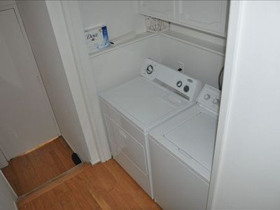 Inside laundry area..............