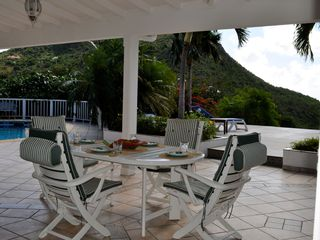 St Barthelemy villa photo - The outdoor dining area, seats 8