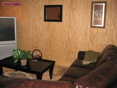 Moorefield cabin rental - Home Theater - Ground Floor