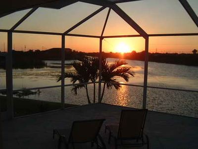 Cape Coral house rental - View of the beautiful sunsets.This is what life is all about