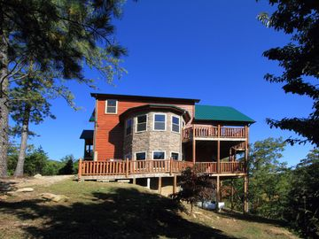 Pigeon Forge cabin rental - Seclusion and view from fire pit area