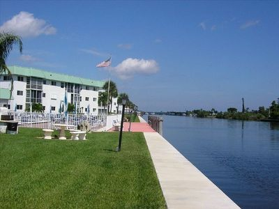 VIEW FROM POOL OF INTRACOASTAL WATERWAY
