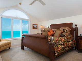 Providenciales - Provo condo photo - Master bedroom upper level with ocean views