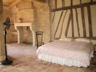 Marmande area farmhouse rental - South bedroom full of country charm