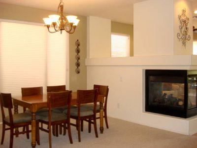 Formal Dining Area with Fireplace