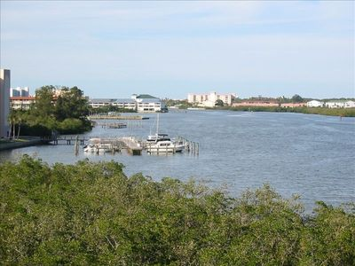 Beautiful Rear Balcony View looking North at the Intracoastal Waterway