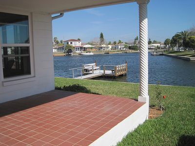 Back porch with new dock