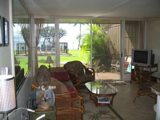 Honokowai condo photo - Living Room, Lanai, & Ocean