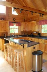 Jamestown cabin photo - Fully appointed cook's kitchen with gas stove top and wall oven
