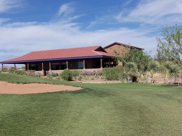 Bisbee house rental - Looking at back of house from just off the 17th green