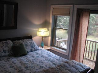 Alburg estate photo - Bedroom #2- Queen bed with private balcony