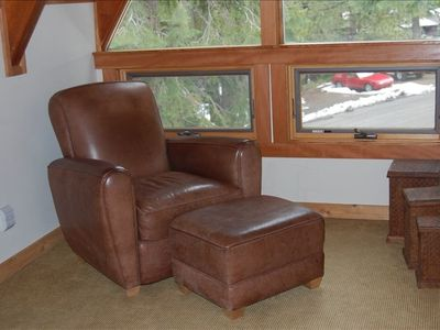 Tahoe City house rental - A quiet sitting area in the master is a perfect place to hide out