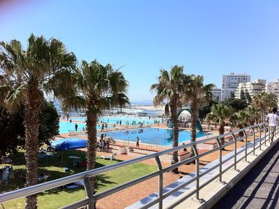 PUBLIC OLYMPIC SIZE SEA SALT SWIMMING POOL HALF A KILOMETRE FROM APARTMENT