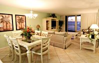 Amazing 2 bedroom condo on the beach with beach service and full of amenities!