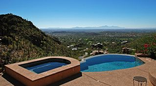 Tucson house photo - view from pool and jacuzzi area