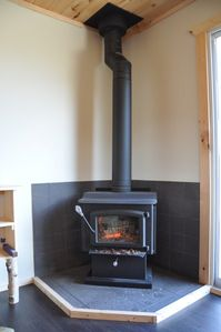 Wreck Cove cottage rental - Professionally installed wood stove