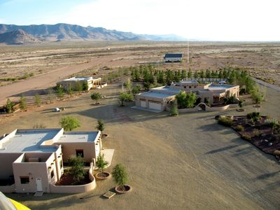 PPR Complex showing 3 Main Buildings, Events Building & Cabin in far background