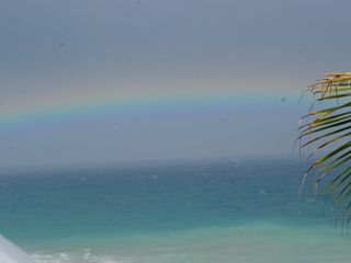 St. Croix villa photo - Rainbows over the Caribbean as seen from the Villa