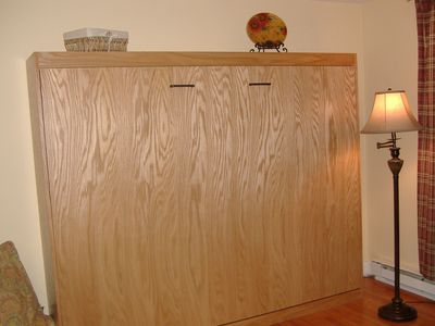 Murphy bed folds up for daytime