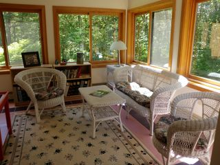 Wiscasset house photo - Sunroom, a great place to curl up with a book!