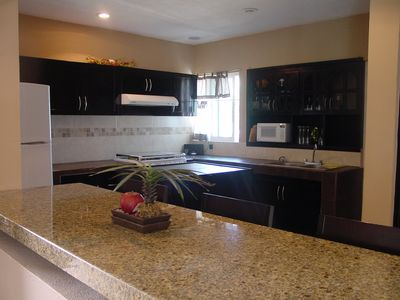 Kitchen with granite Island