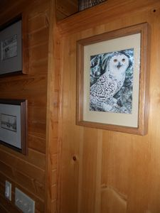 Minong chalet rental - The owners art can be viewed throughout the lake home.
