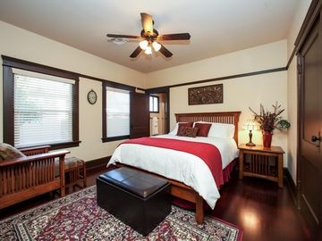 Bedroom 2 with Stearns and Foster Queen Bed 400TC Linens and Private Bath