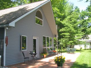 Interlochen cottage photo - Sit on the patio with a clear view of beautiful Bass Lake