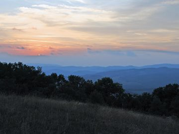 Sunset from a nearby hill. Is close to Appalachian Trail, New River & Mt Rogers.