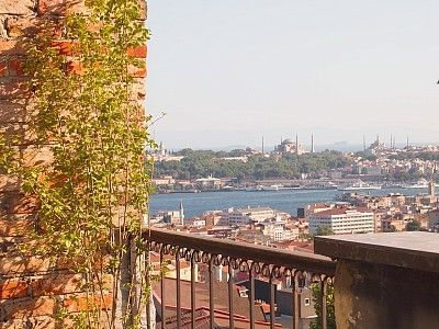 Amazing view from the terrace: Sulthanamet, Golden Horn, Marmara Sea, Bosphorous
