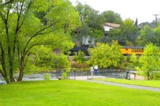 Durango house photo - Durango/Silverton train from the Animas river park 4 blocks east of the house.