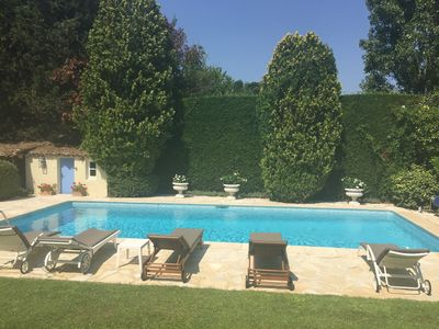 4 BED PROVENCAL VILLA WITH HEATED POOL BY SHOPS - www.valbonne-villa-rental.com