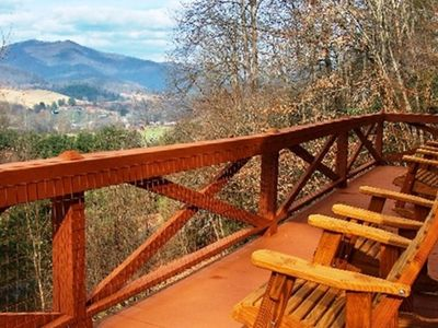 Relax and take in the views! Maggie Valley NC cabin vacation rental