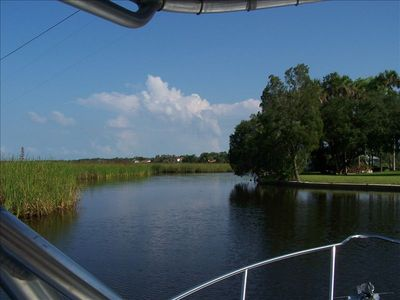 Deep water canal leading to Homosassa River and Gulf