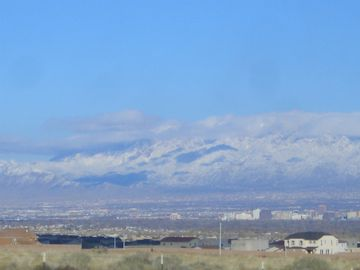 View of the Sandia Mountains