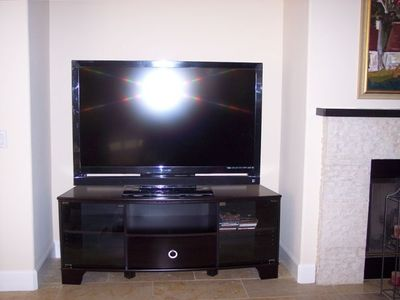HD tv in living room