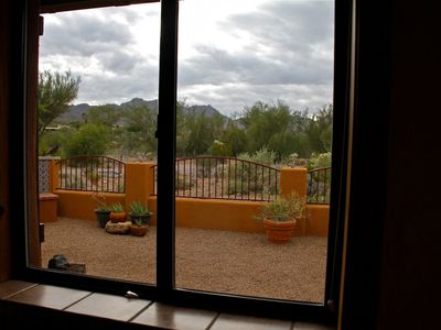 Beautiful Back Yard View w Tucson Mountains in the Distance