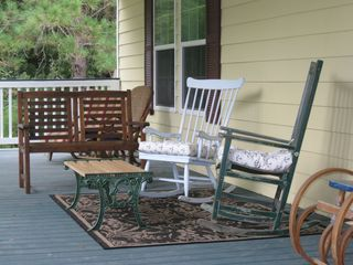 Wadmalaw Island house photo - Front porch. Relax and enjoy your morning coffee.
