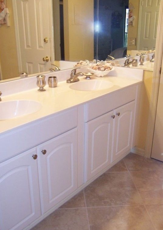 Master suite has double sink