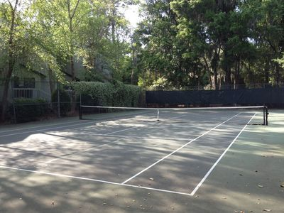On-site tennis court, just steps from our villa!