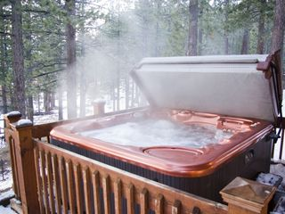 Black Bart house photo - Steaming hot tub with amazing views at our Black Bart Vacation Home.