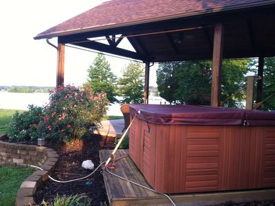 Hot Tub and back patio