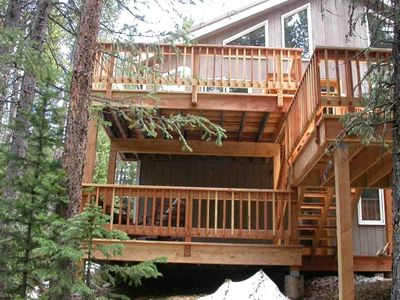 Deck overlooking Vasquez Creek