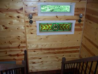 Ellijay cabin photo - Beautiful stain glass throughout the cabin