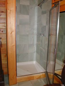Marble Tile in Shower Area